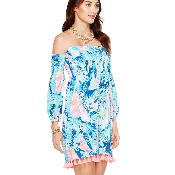 Lilly Pulitzer Dresses & Skirts - Lilly Trina beach dress! Hey Bay Bay print